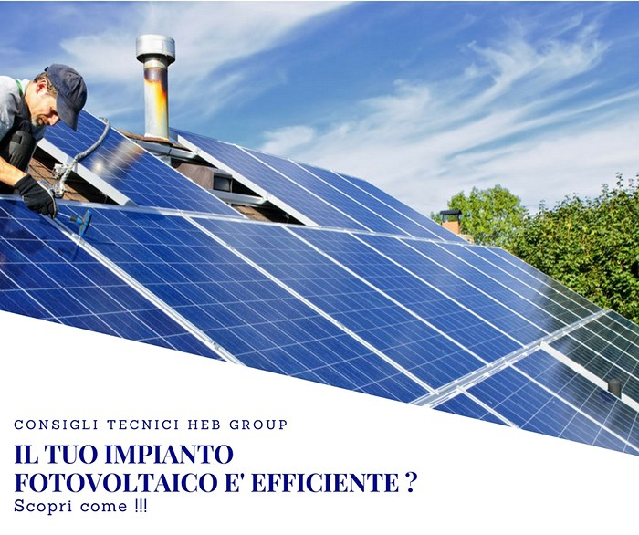 Is your photovoltaic system efficient?